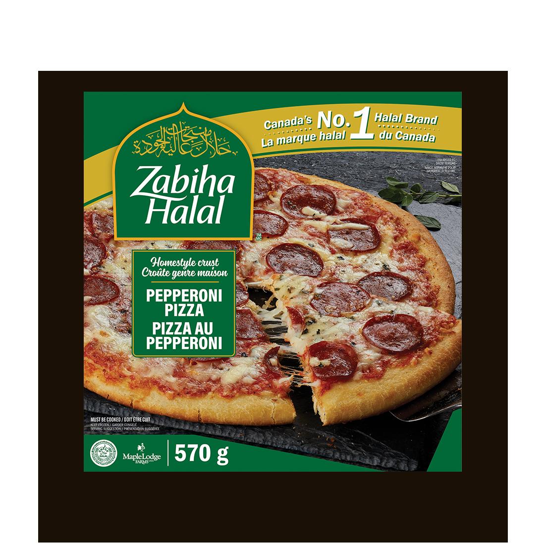 Une boîte de pizza au pepperoni genre maison surgelé