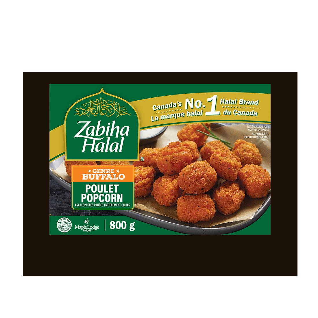 Un emballage de poulet popcorn genre buffalo surgelé