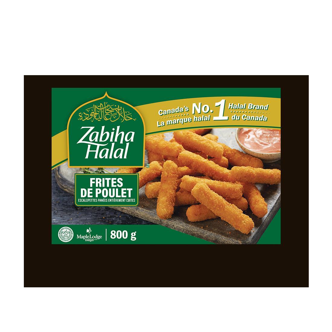 Un emballage de frites de poulet surgelées