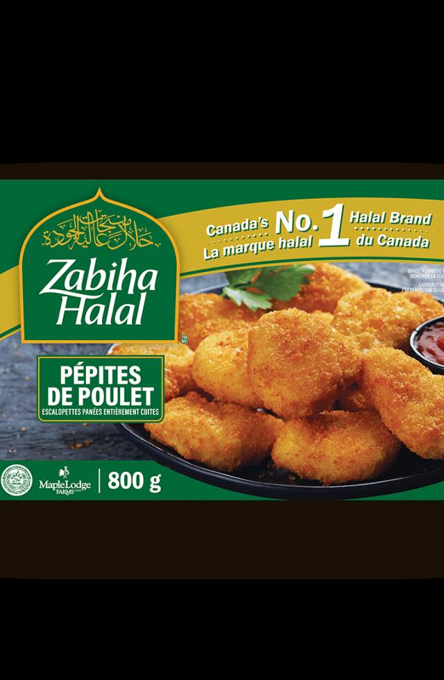 Un emballage de pépites de poulet surgelées