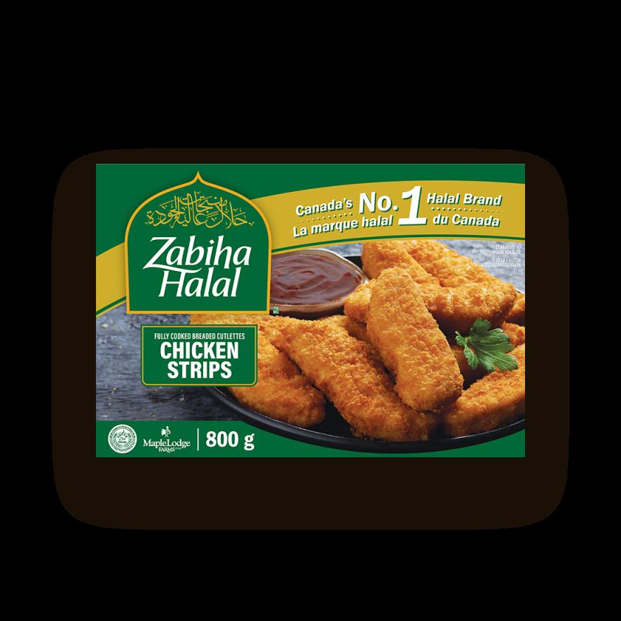 A package of frozen Chicken Strips
