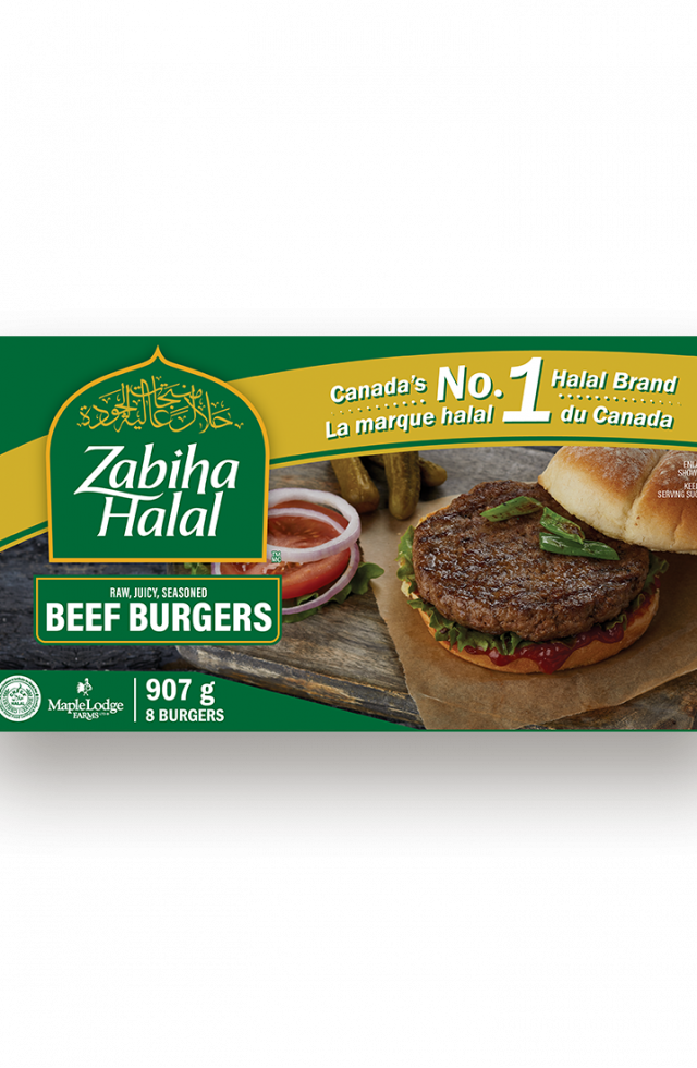 A package of frozen Beef Burgers