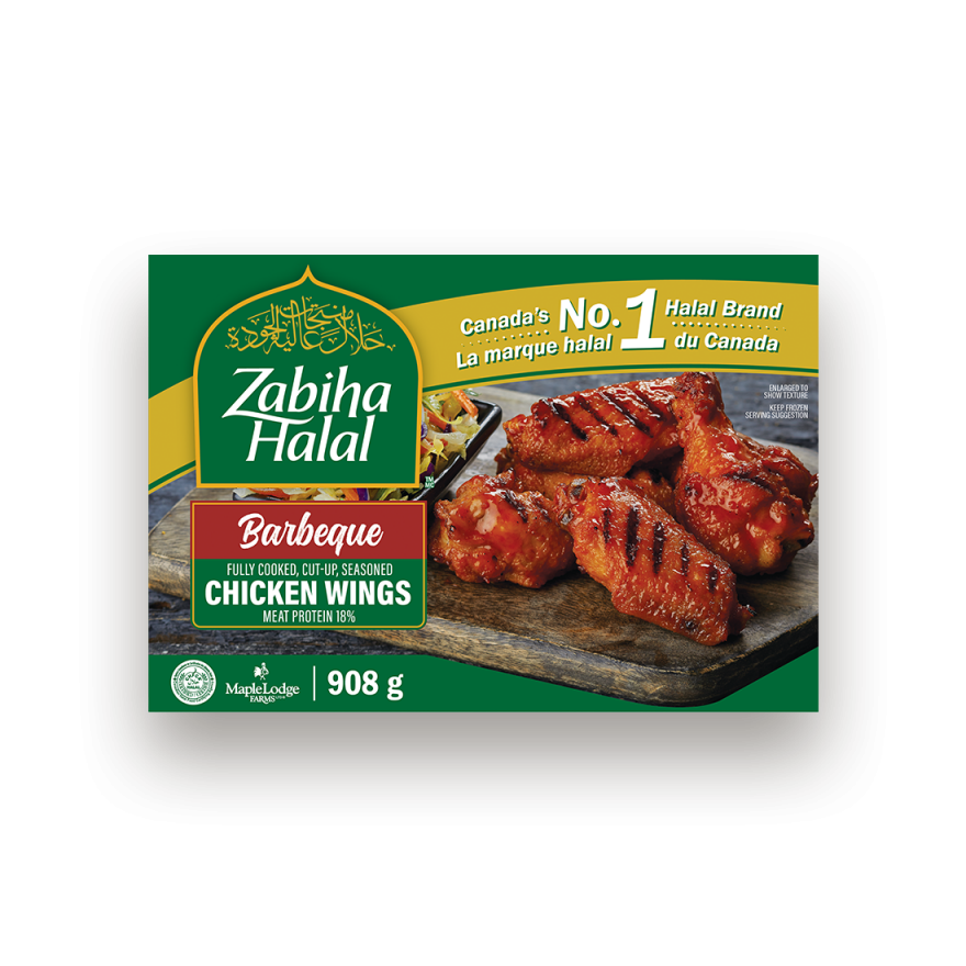 A package of frozen BBQ Style Chicken Wings