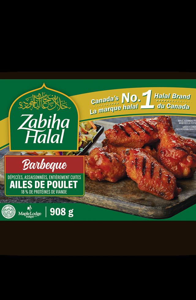 Un emballage d'ailes de poulet genre barbecue surgelées