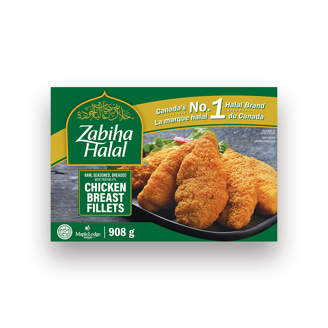 A package of frozen Chicken Breast Fillets
