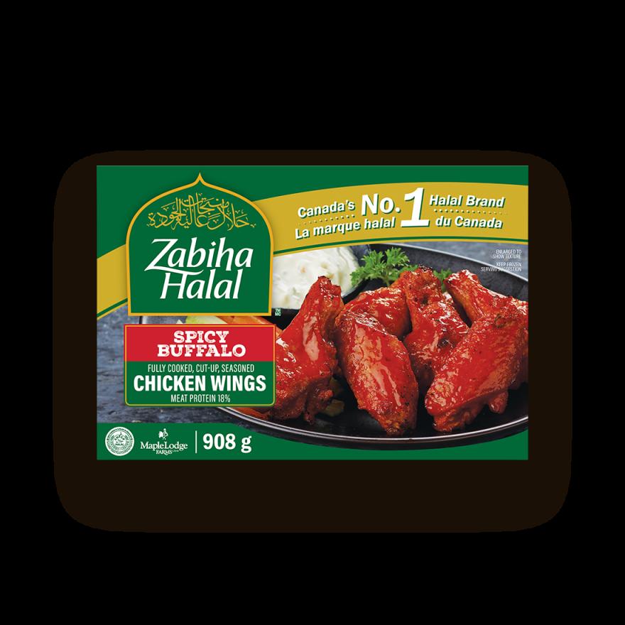 A package of frozen Spicy Buffalo Style Chicken Wings