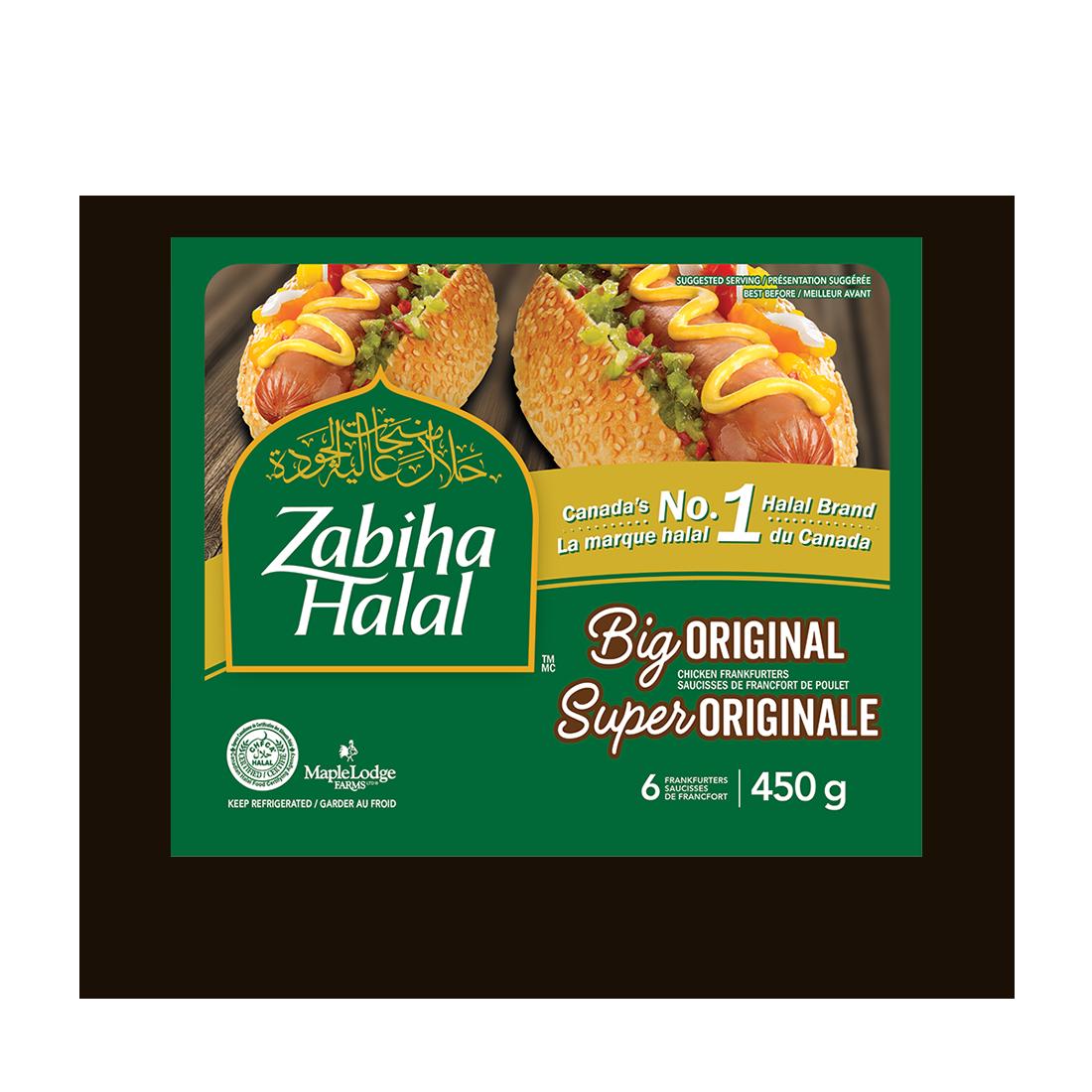 Un emballage de saucisses fumées de poulet Super Originale