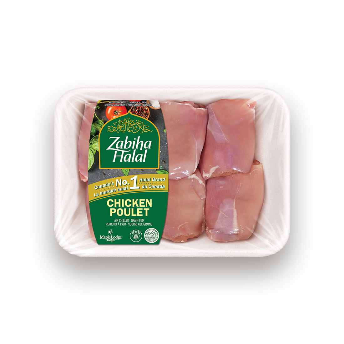 A package of fresh Boneless, Skinless Chicken Thighs