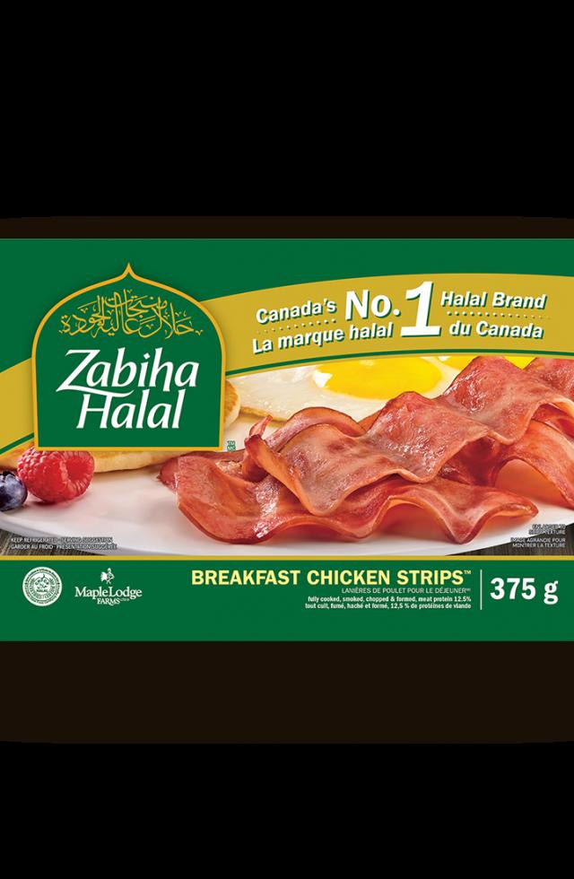 Un emballage de lanières de poulet pour le déjeuner