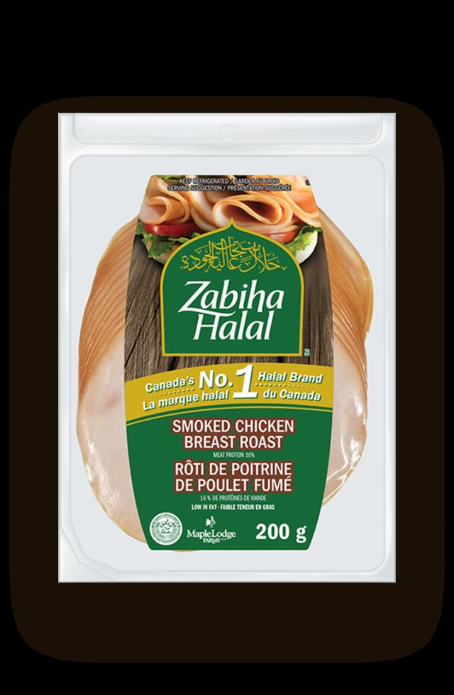 Un emballage de poitrine de poulet fumée