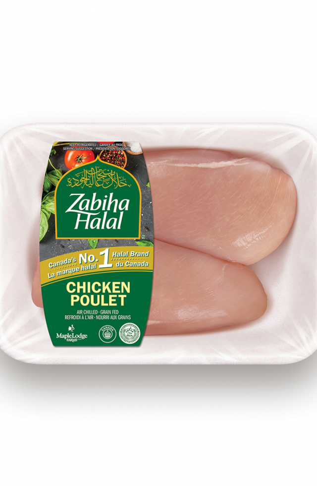 A package of fresh Boneless, Skinless Chicken Breasts