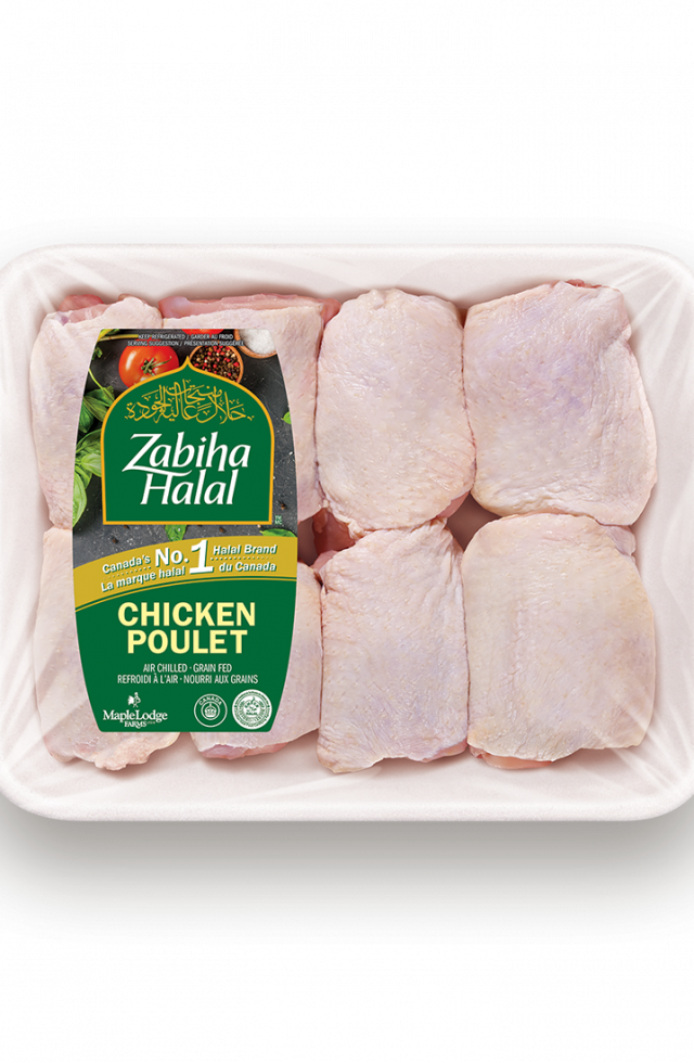 A package of fresh Chicken Thighs