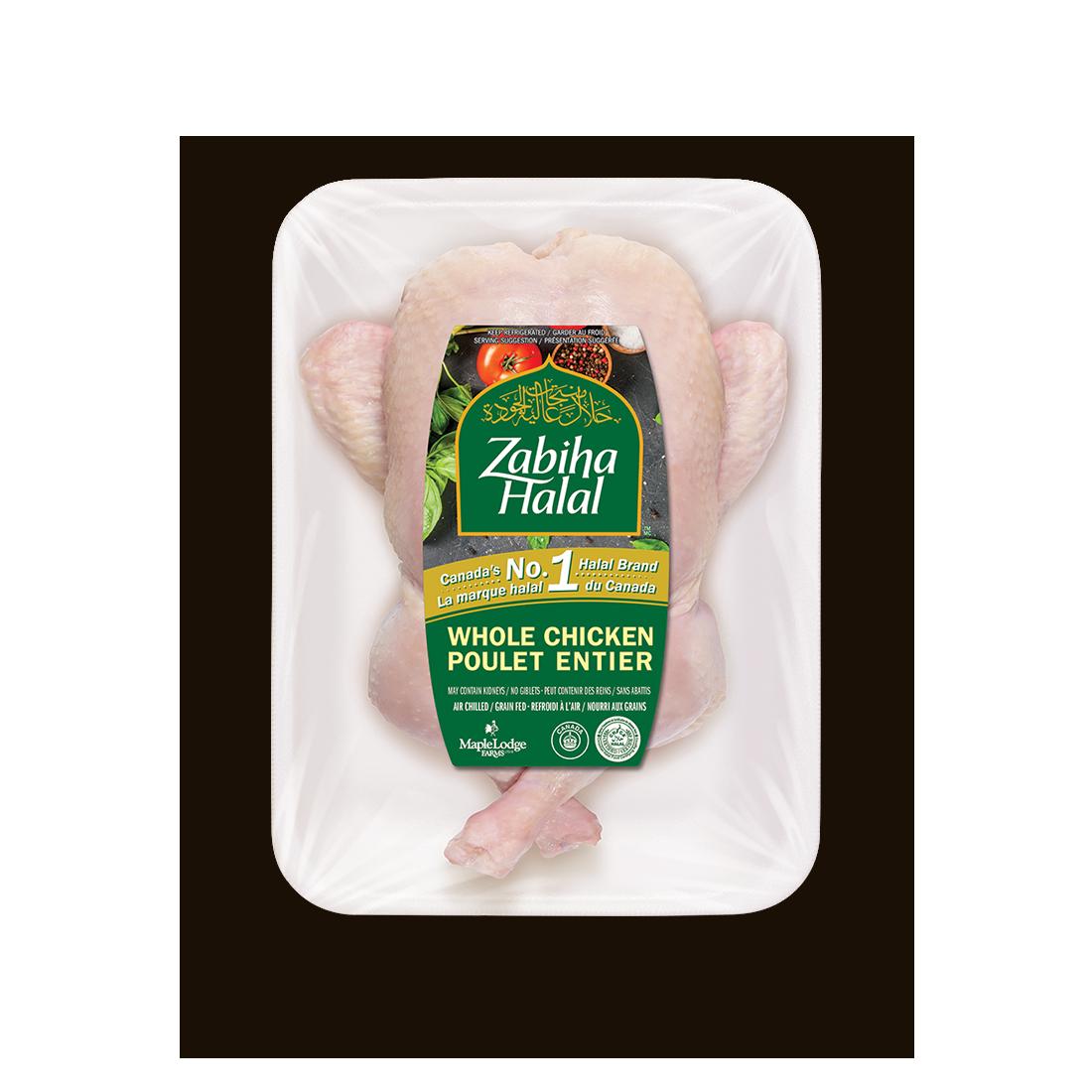 Un emballage d'un poulet entier frais ficelé