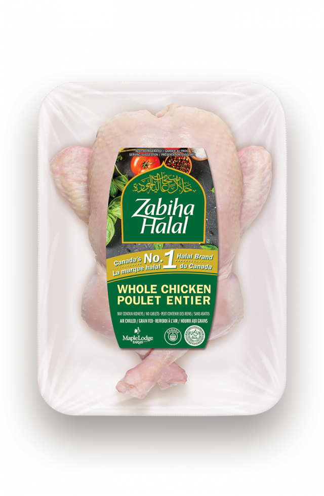 A package of a fresh Whole Tied Chicken
