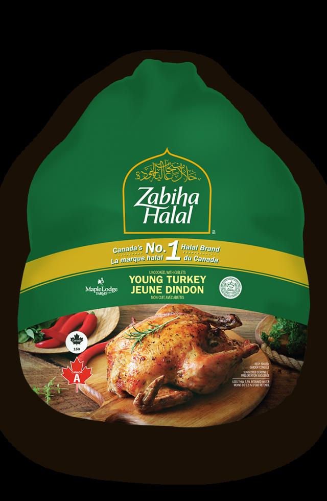 A whole frozen turkey