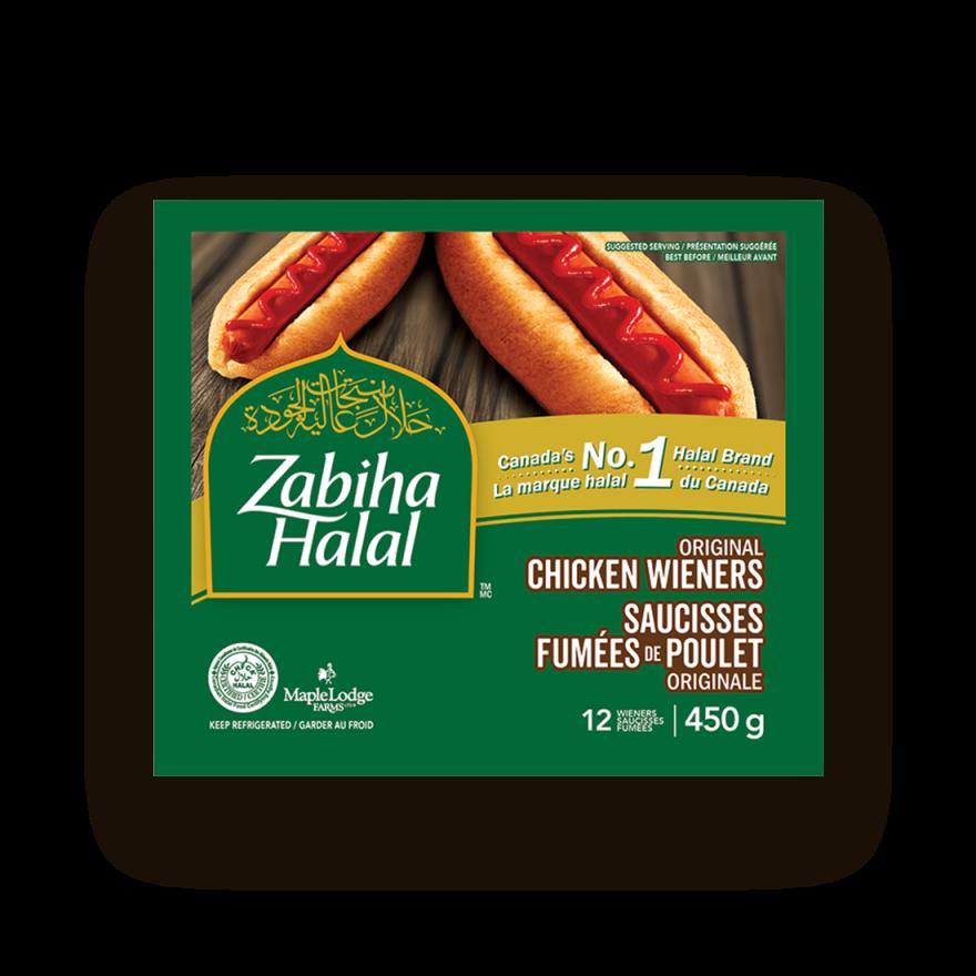 Un emballage de saucisses fumées de poulet Originale