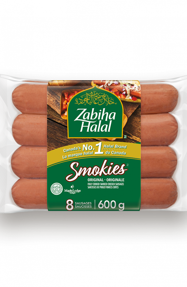 A package of Smokies: Fully Cooked Smoked Chicken Sausages
